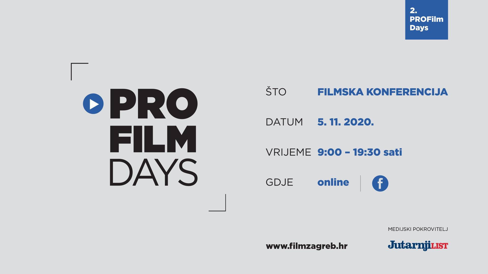 Sutra započinje filmska konferencija PROFilm Days!